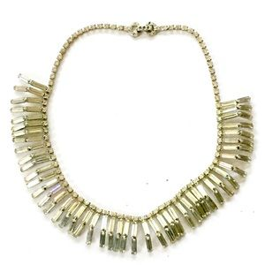 Baguette Rhinestone Statement Necklace Vintage